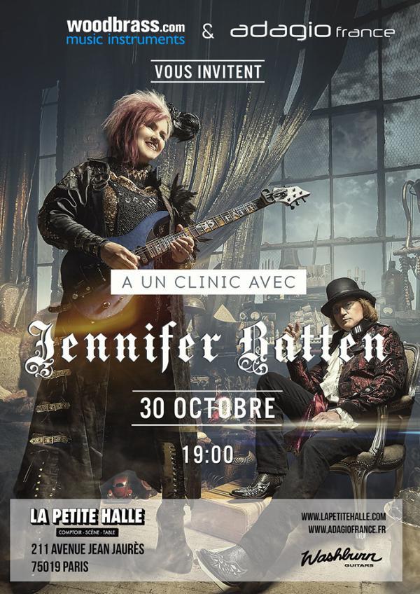 Jennifer Batten clinic (Washburn / Woodbrass) - Reportage à la Petite Halle de la Villette