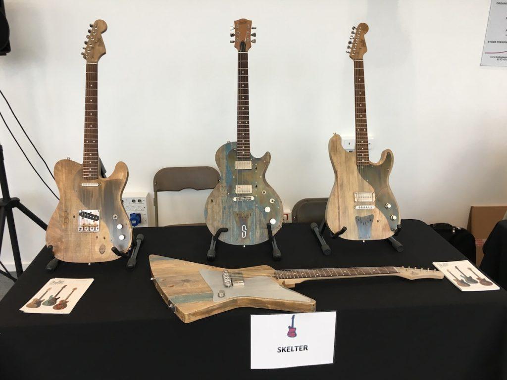 Festival de Guitare de Puteaux 2017 - Guitares Skelter en bois de palette