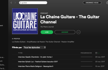 Podcast Spotify : La Chaîne Guitare disponible !