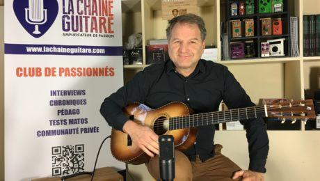 Test Guitare - Session Michel Ghuzel sur sa parlor Pierre Bertrand style 2