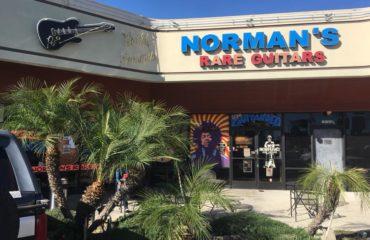Visite Norman's Rare Guitars à Los Angeles - Live Facebook 23/01/18