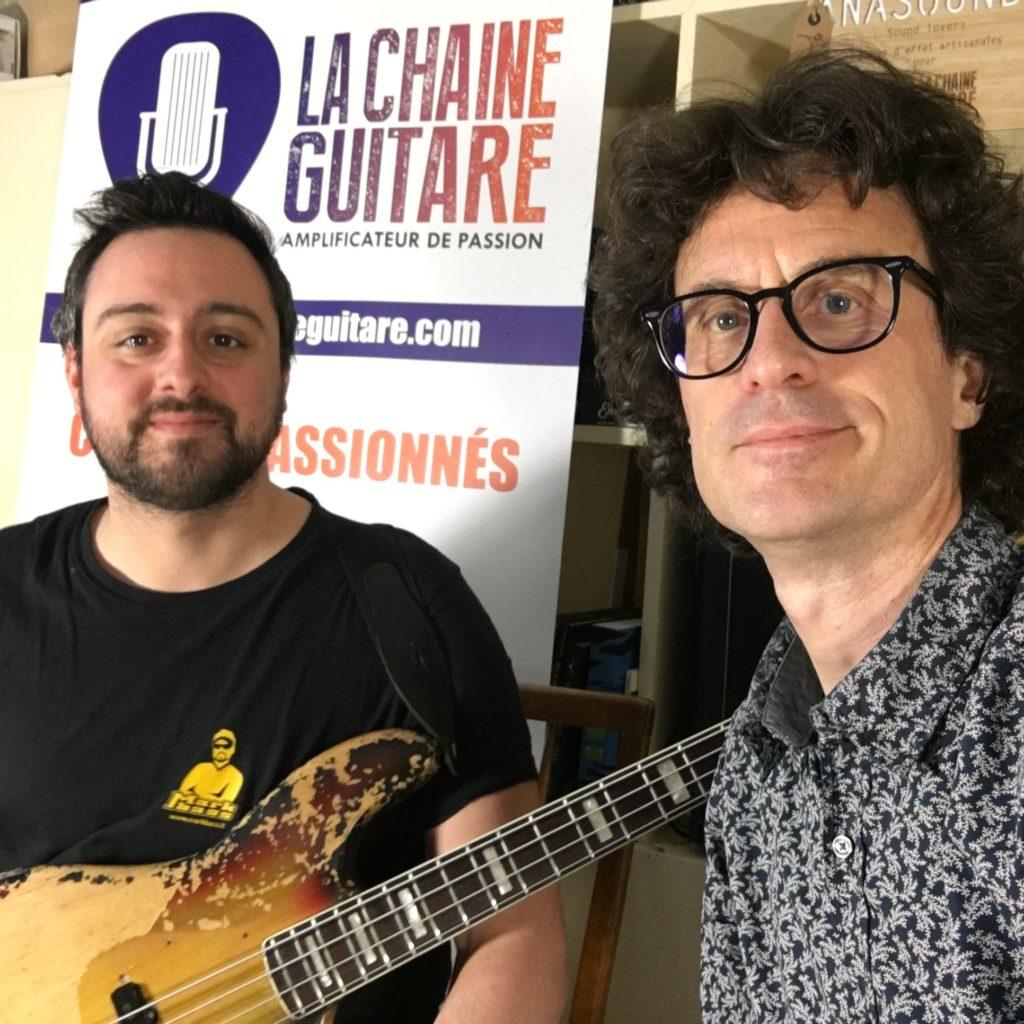 Selfie Romain Labaye et Pierre Journel - La Chaîne Guitare