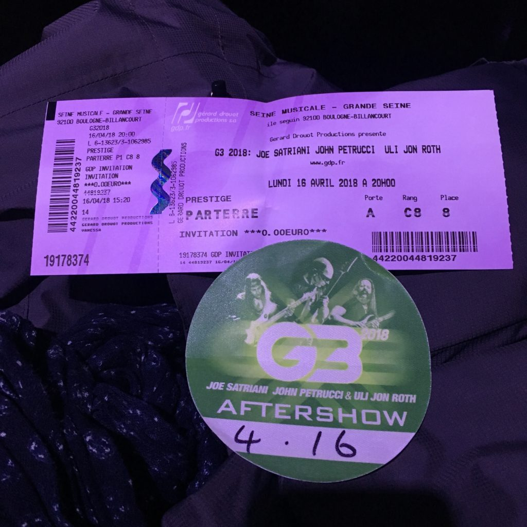 Reportage concert G3 2018 - Uli Jon Roth / John Petrucci / Joe Satriani