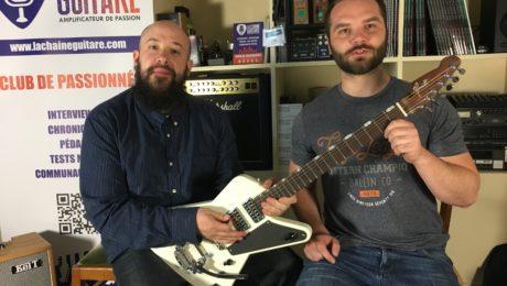 Livraison guitare Spitfire Girault par le luthier à Julien Bitoun
