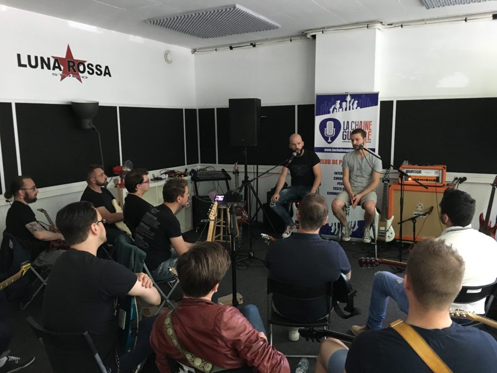 Reportage masterclass Joe Satriani animée par Pascal Vigné et Saturax
