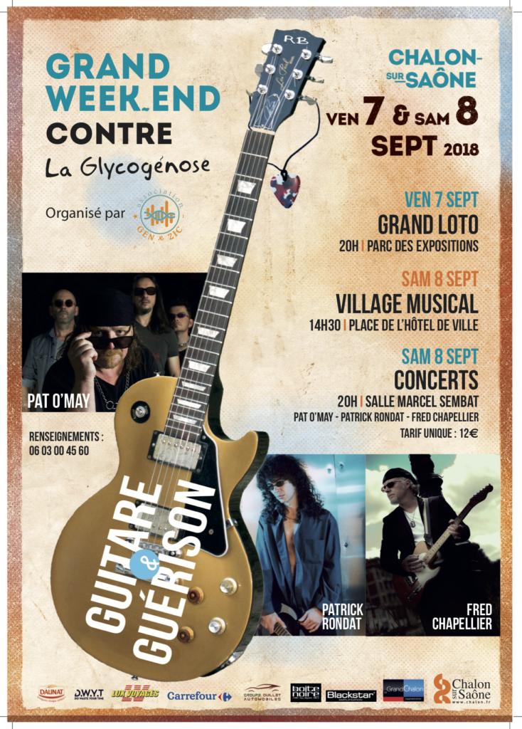 Guitare & Guérison - Week-end d'action contre la Glycogénose 7 et 8 septembre 2018