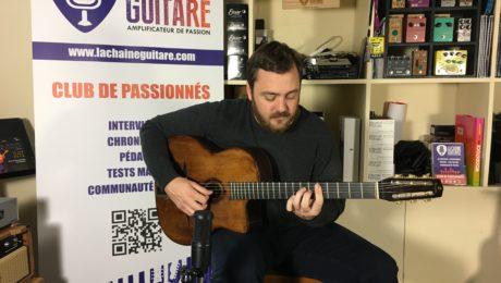 Interview David Reinhardt guitare à la main - Petit-fils de Django Reinhardt