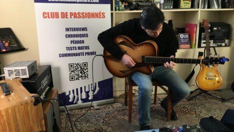 Session showroom - Essais archtop et solidbody - Miguel Castro