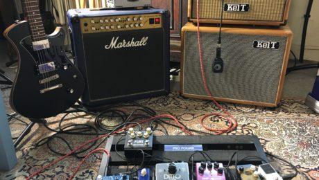 Démonstration configuration amplification guitare Dry/Wet