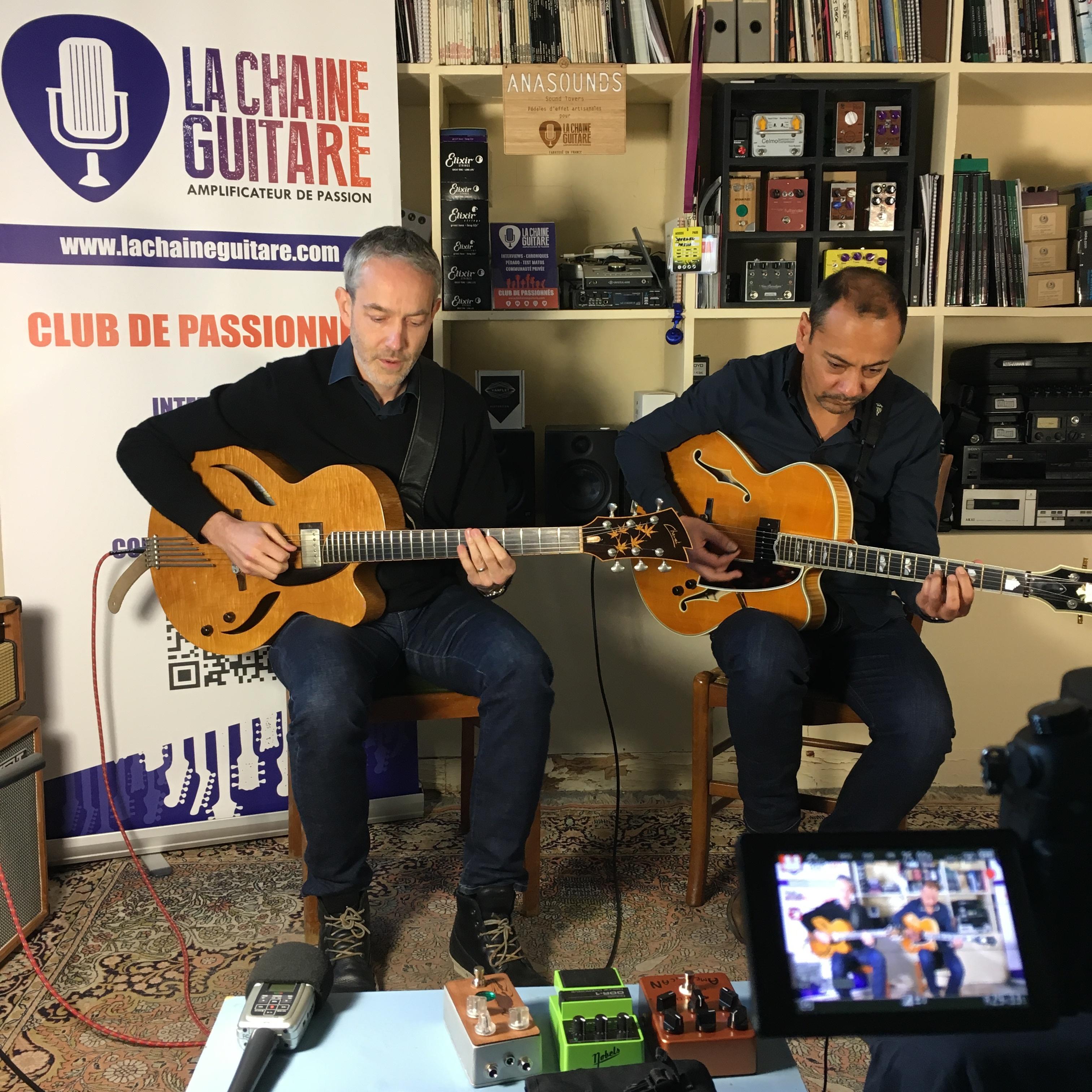 Interview duo guitare Jazz Sébastien Lanson et Laurent Cohen
