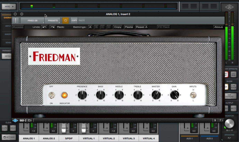 Test Plugin - Ampli Friedman DS40 Universal Audio