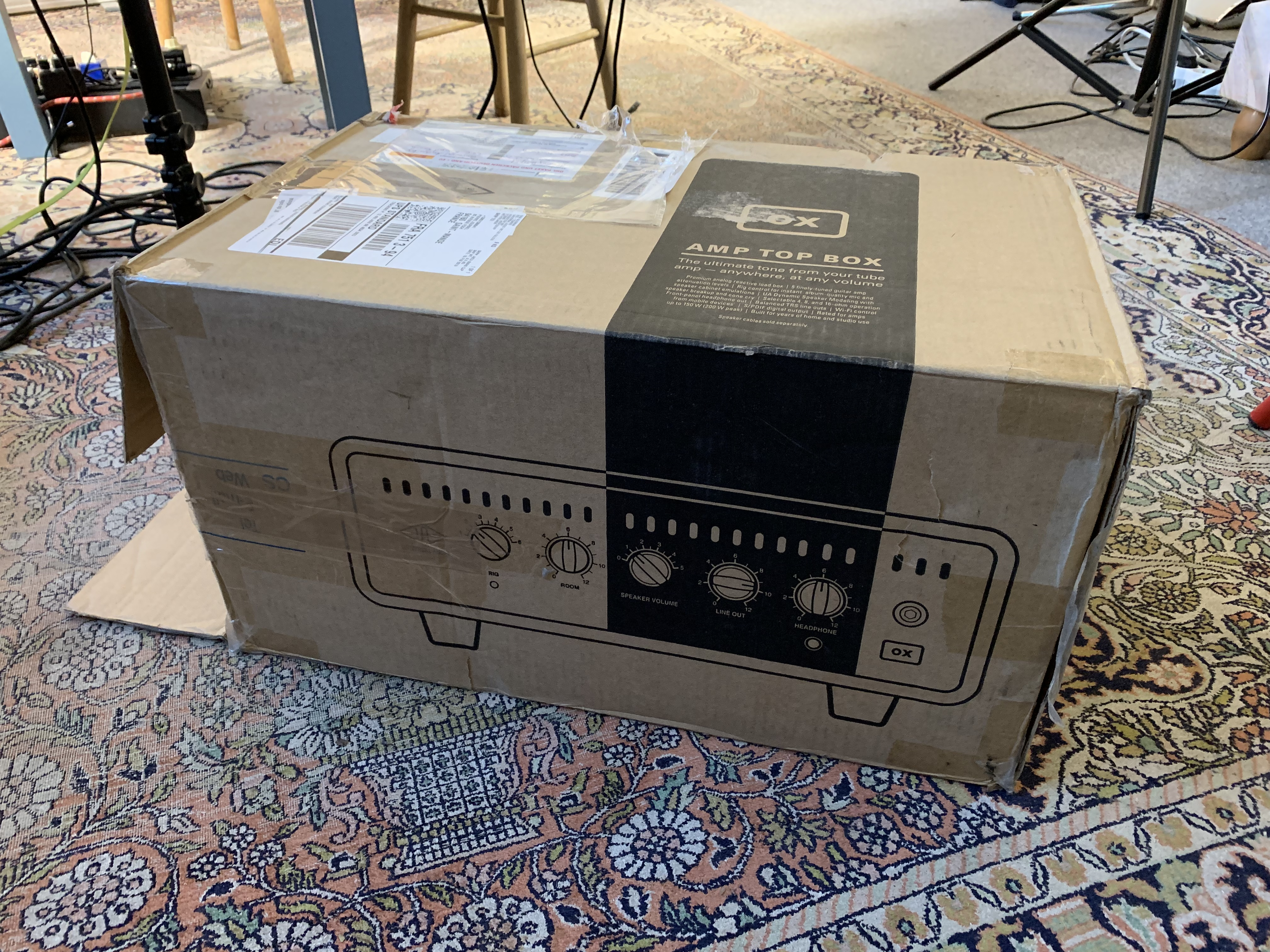 Unboxing loadbox réactive OX Amp Top Box Universal Audio