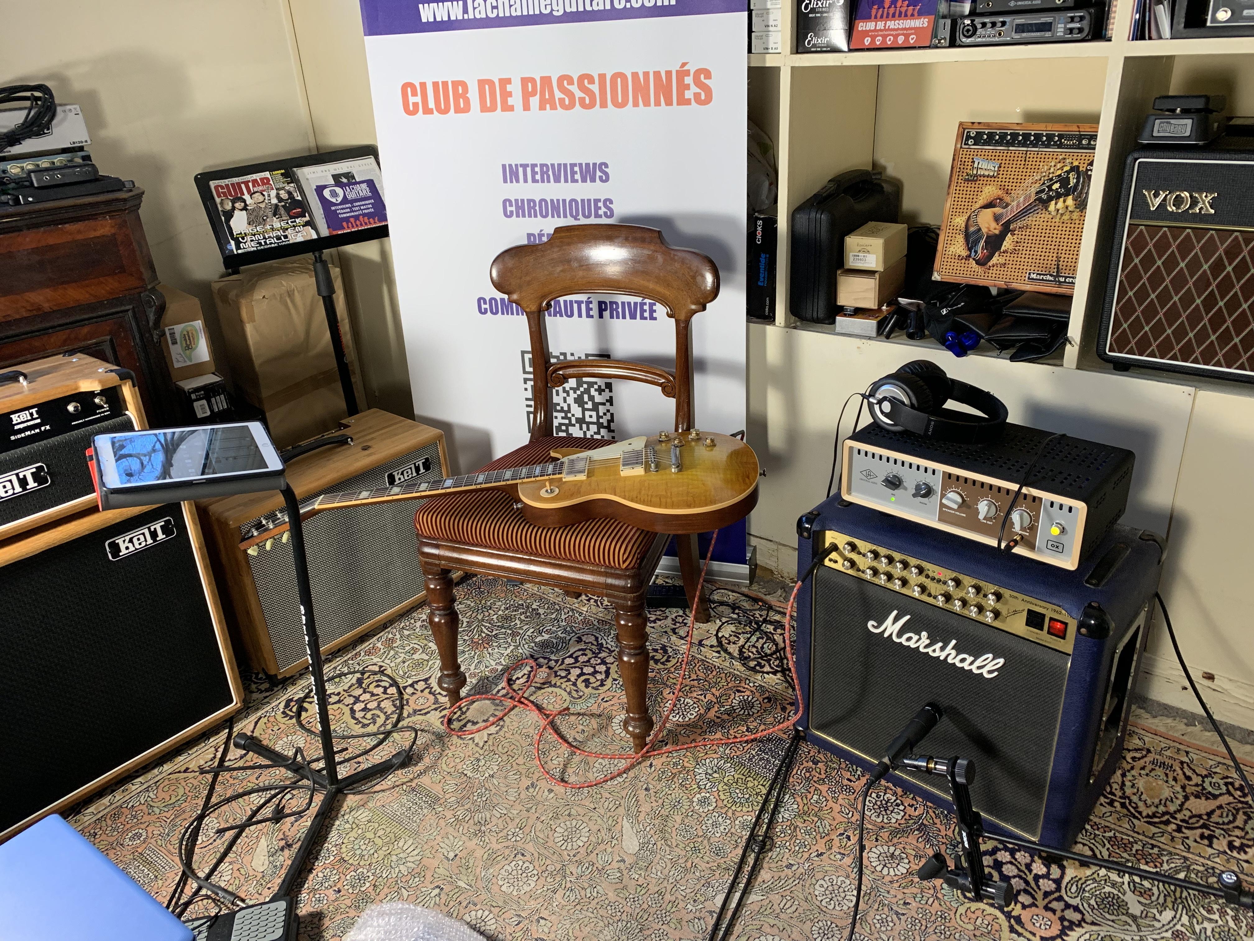 Test Matos - OX Universal Audio / Les Paul + Ampli Marshall 6101