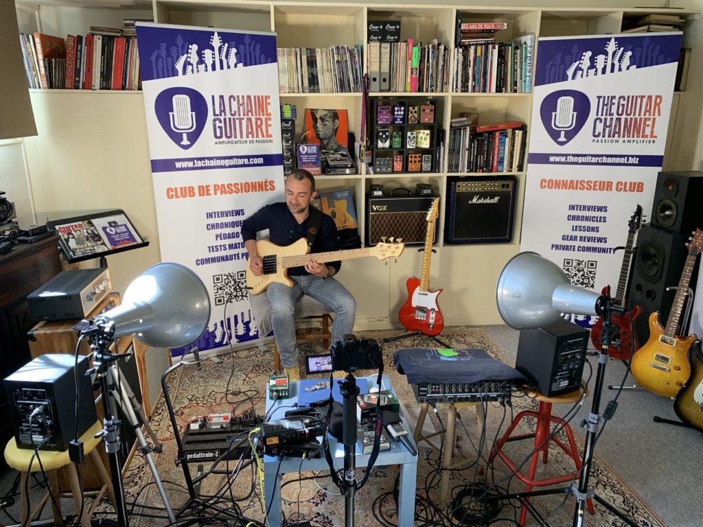 Interview basse à la main du musicien Sébastien Tibackx