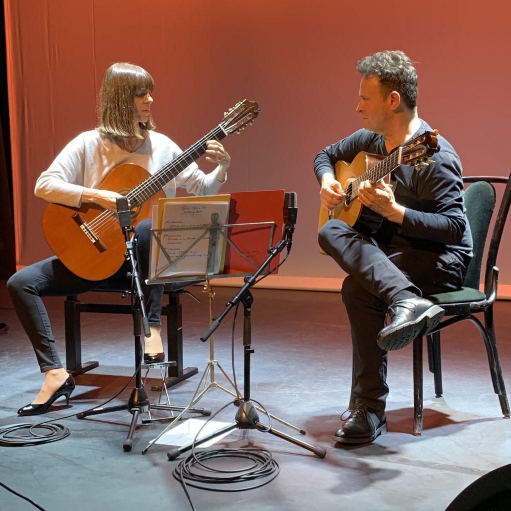 Interview Marylise Florid et Sylvain Luc - Guitares à la Main au Studio Marigny - La Chaîne Guitare