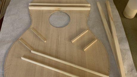 Barrage, cintrage, fabrication du manche - Chronique Lutherie Célia Enoc - 2/4