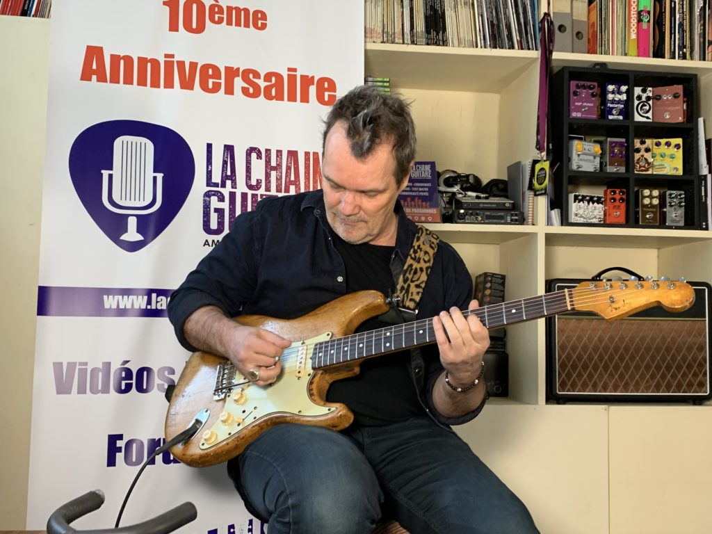 Axel Bauer interview - Approche du matos guitare - Partie 2/2