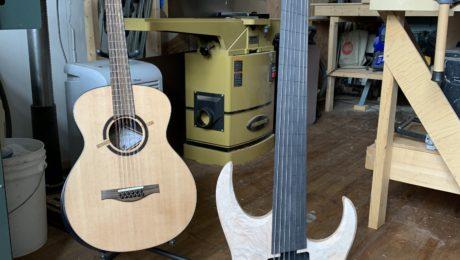 Interview luthier guitare Maxime Baron dans son atelier de Montréal