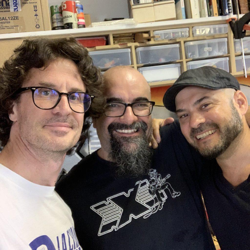 Selfie Pierre Journel / Marc Lupien / Bruno Coulombe - La Chaîne Guitare
