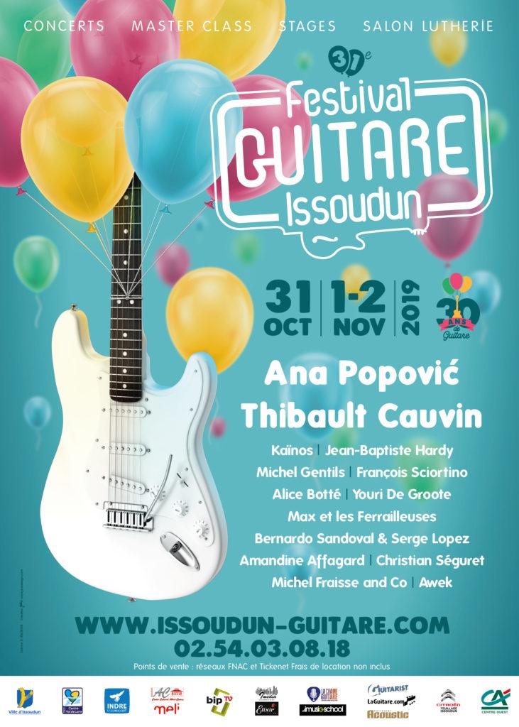Festival Guitare Issoudun 2019 - La Chaîne Guitare y sera (comme toujours !)