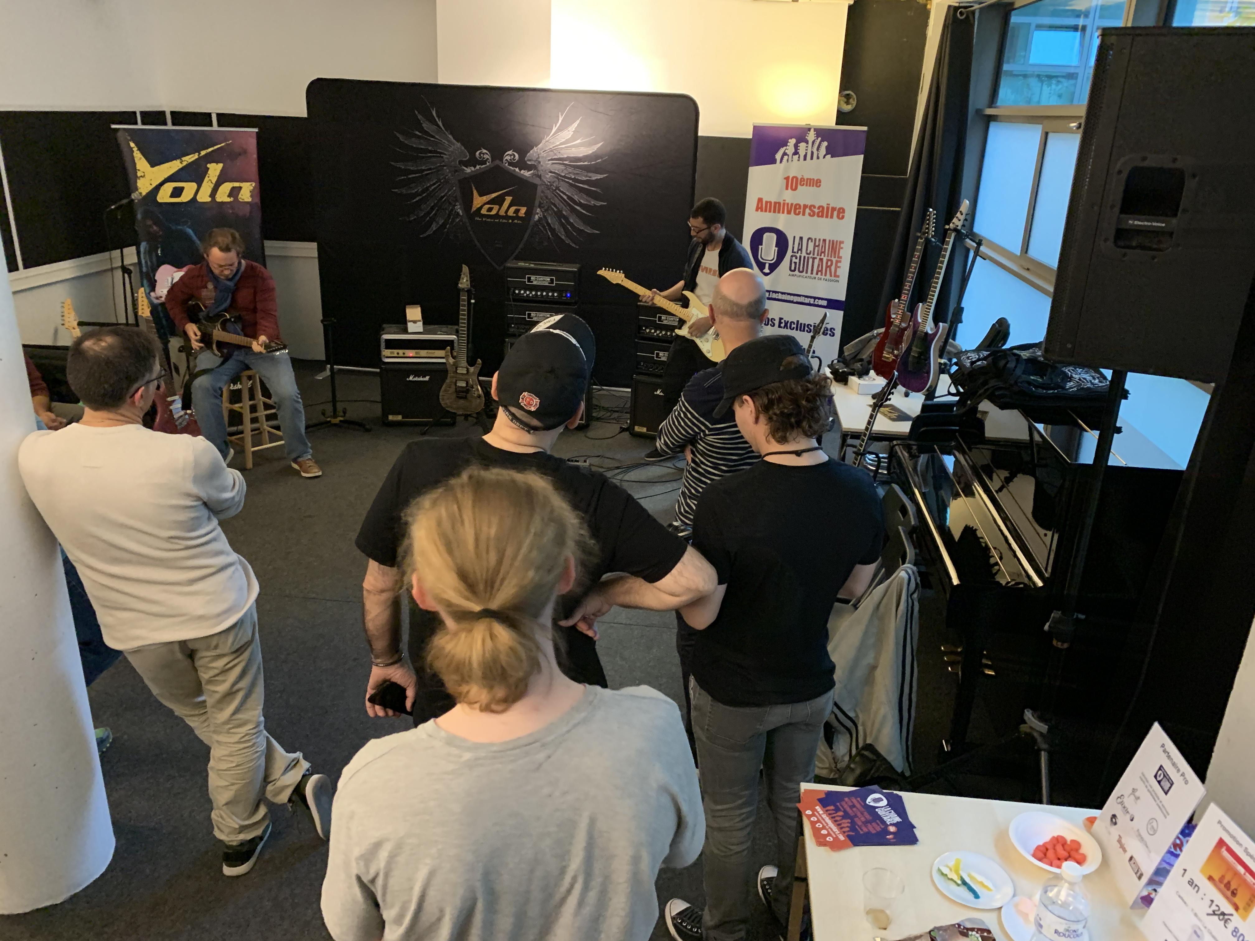 Reportage Soirée Matos Vola Guitar / BD Custom Amp du 20/09/19