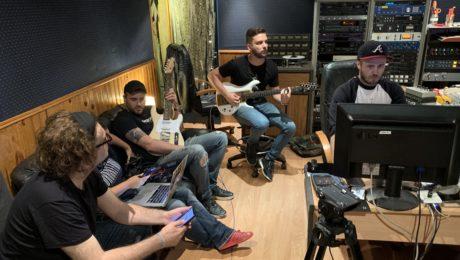 Projet United Guitars - Reportage en studio lors de l'enregistrement