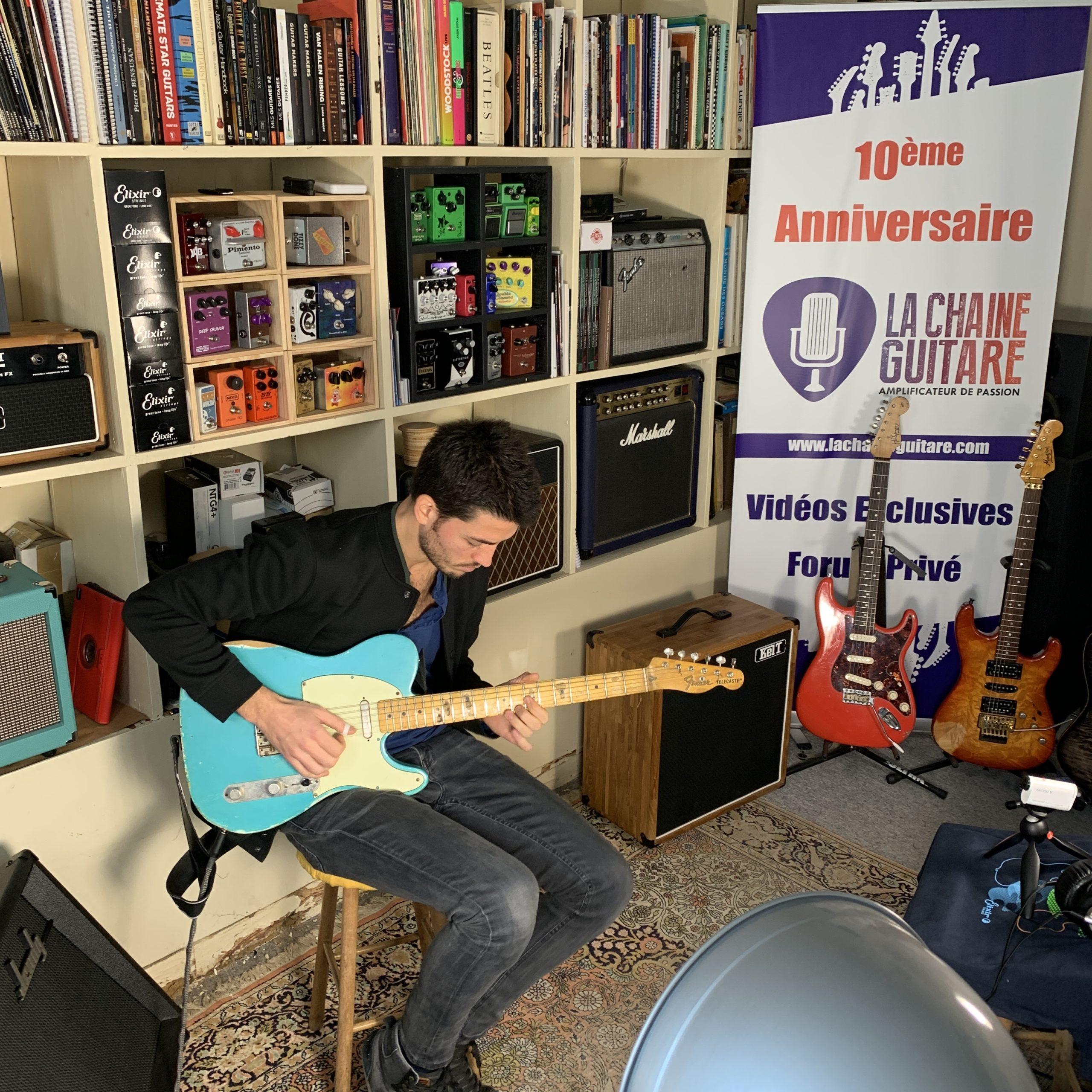 Interview Jean-Baptiste Hardy Telecaster à la main