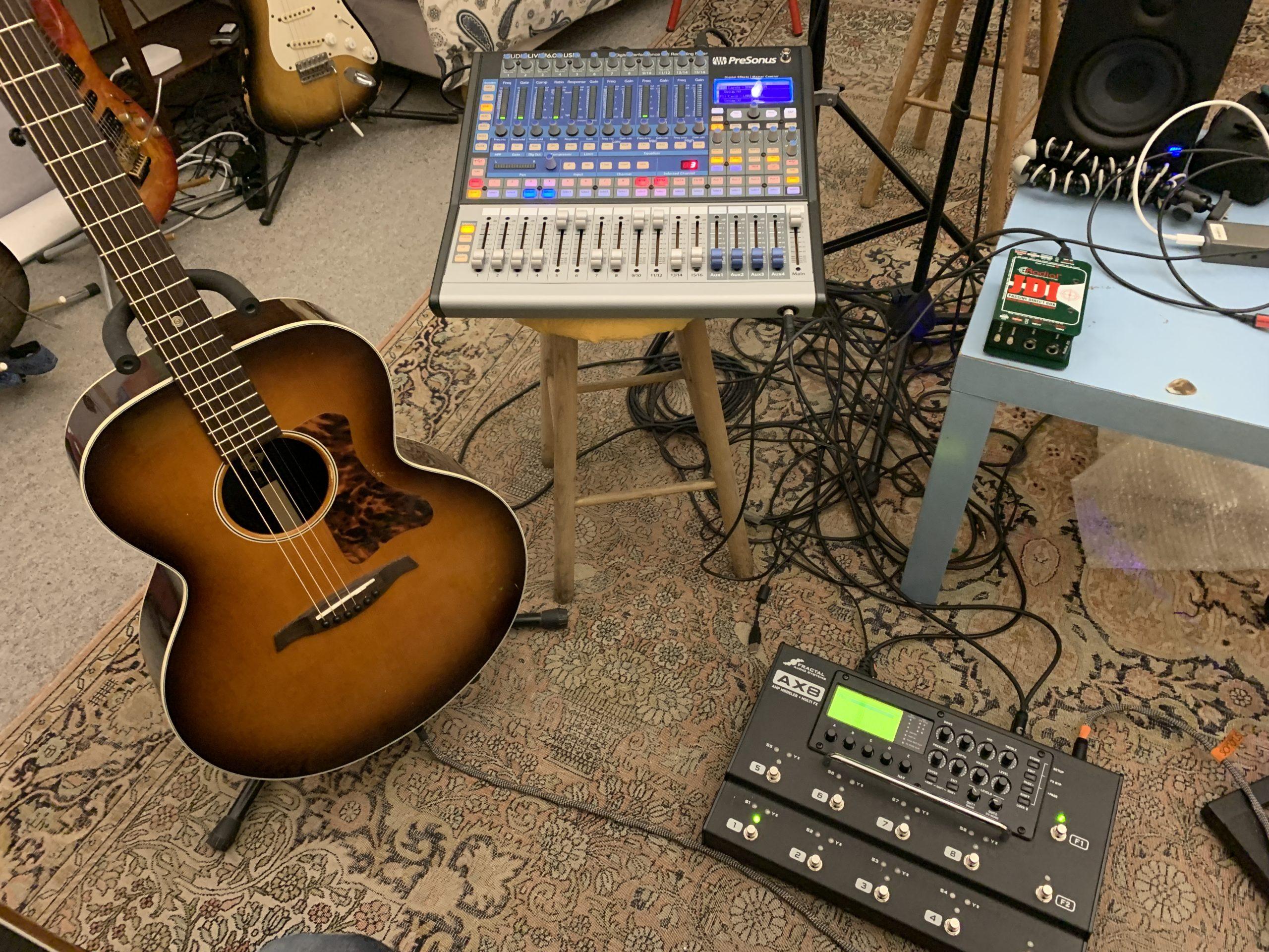 Prise de son guitare acoustique amplifiée - 3 méthodes comparées