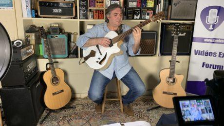 Joël Gombert vient présenter en interview ses guitares du luthier Stéfan Barrillon