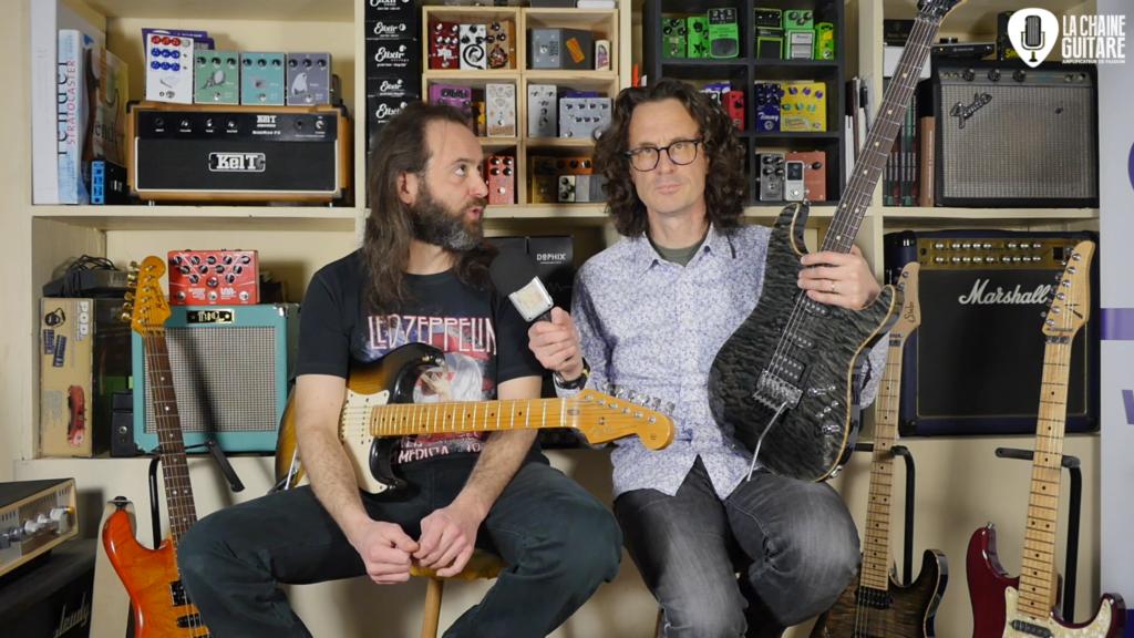 La Super Strat au travers du temps avec Stéphane Boget guitare à la main
