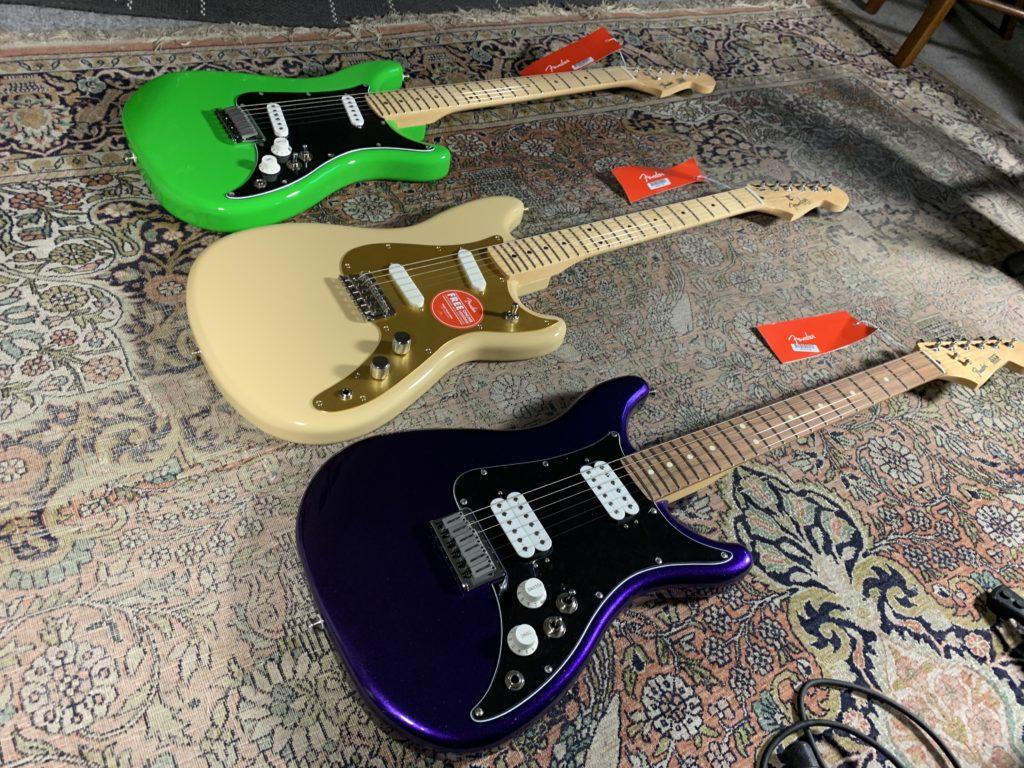 Unboxing de 3 guitares Fender modèles Lead II, III et Duo-Sonic
