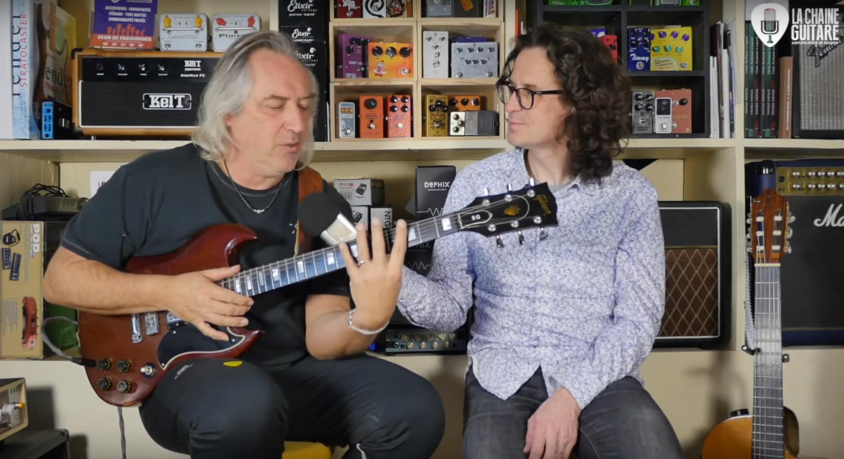 Interview Louis Winsberg guitare Gibson SG à la main - Partie 2/2