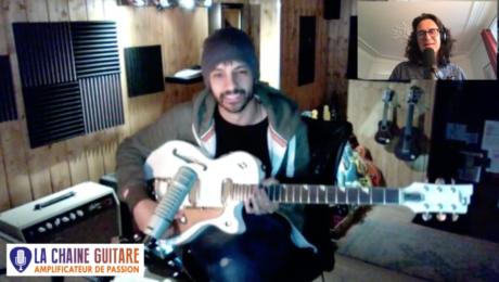 Brice Colombier guitariste pro (The Voice Kids, Sinclair, etc.) en interview Confinement