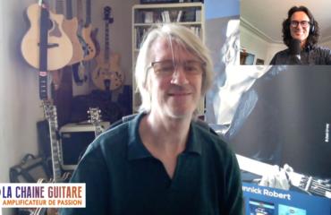Yannick Robert guitariste de Jazz et grand pédagogue en interview confinement