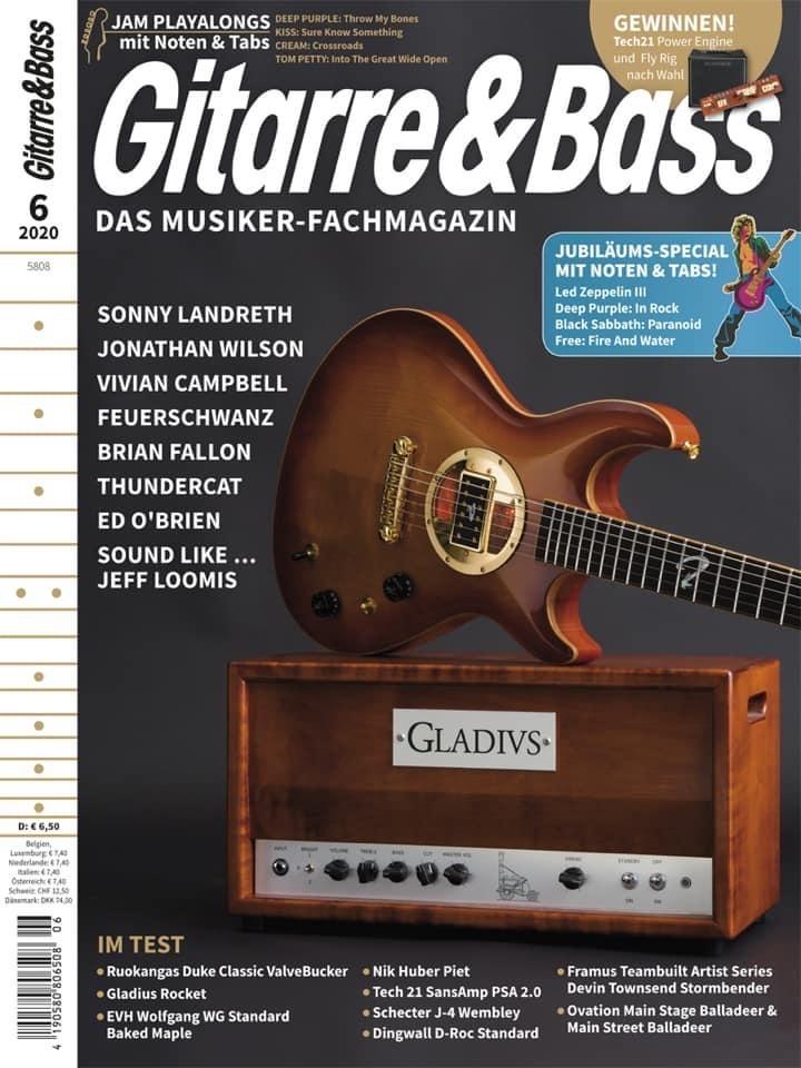 La Duke Valvebucker en couverture du magazine allemand Gitarre & Bass