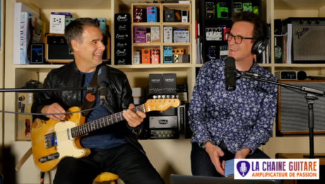 Kamil Rustam interview en direct guitare à la main