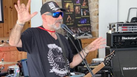Interview Judge Fredd lors du stage de guitare de Pat O'May, le Guit-Ar-Camp