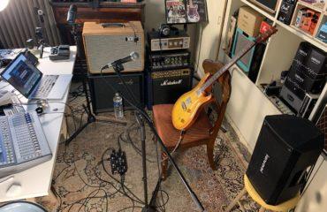 Config guitare voix avec ordinateur, pédale Xtone, simulation Blue Cat Audio et baffle FRFR