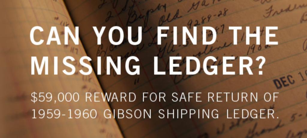 A la recherche du mythique ledger Gibson perdu de 1959 !