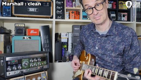 Un écho à bande Roland Space Echo RE-201 et une Les Paul direct dans un Marshall