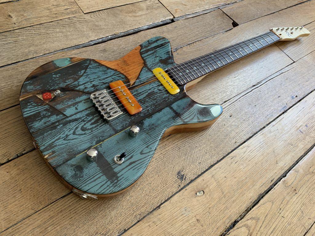 En vedette au showroom : 3 guitares Spalt Instruments du luthier Michael Spalt : Gate Guitar #047
