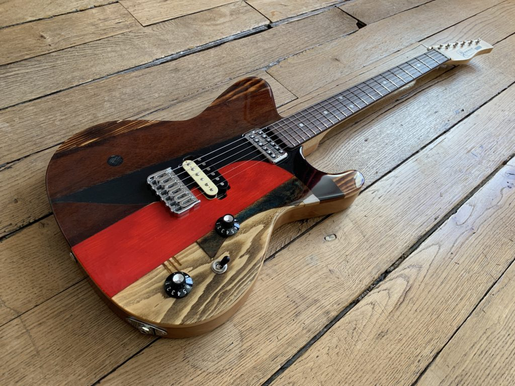 En vedette au showroom : 3 guitares Spalt Instruments du luthier Michael Spalt : Totem X.2 X7