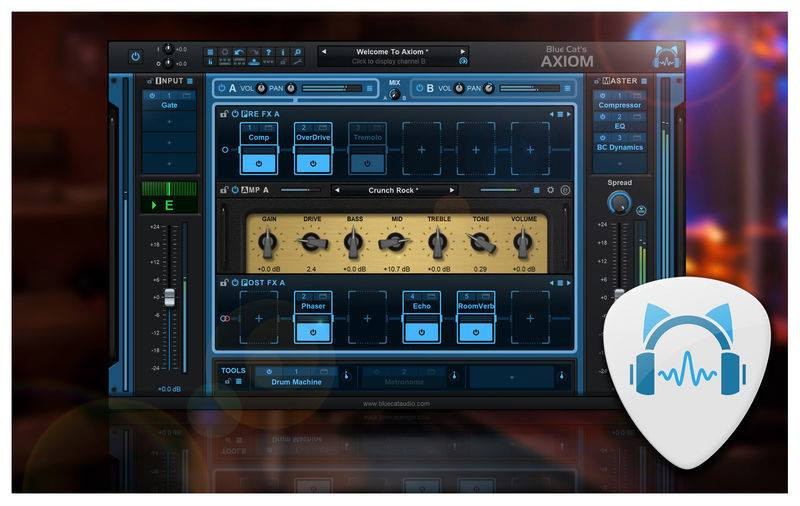 Axiom de Blue Cat Audio : découverte du logiciel par un abonné