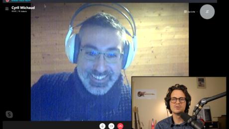 Cyril Michaud, interview en direct du musicien et co-animateur du podcast Culture Guitare