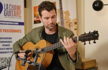 Samuel Strouk présente ses Nouveaux Mondes guitare à la main et son appli Music In