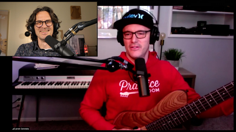 Janek Gwizdala interview basse à la main d'un musicien très créatif