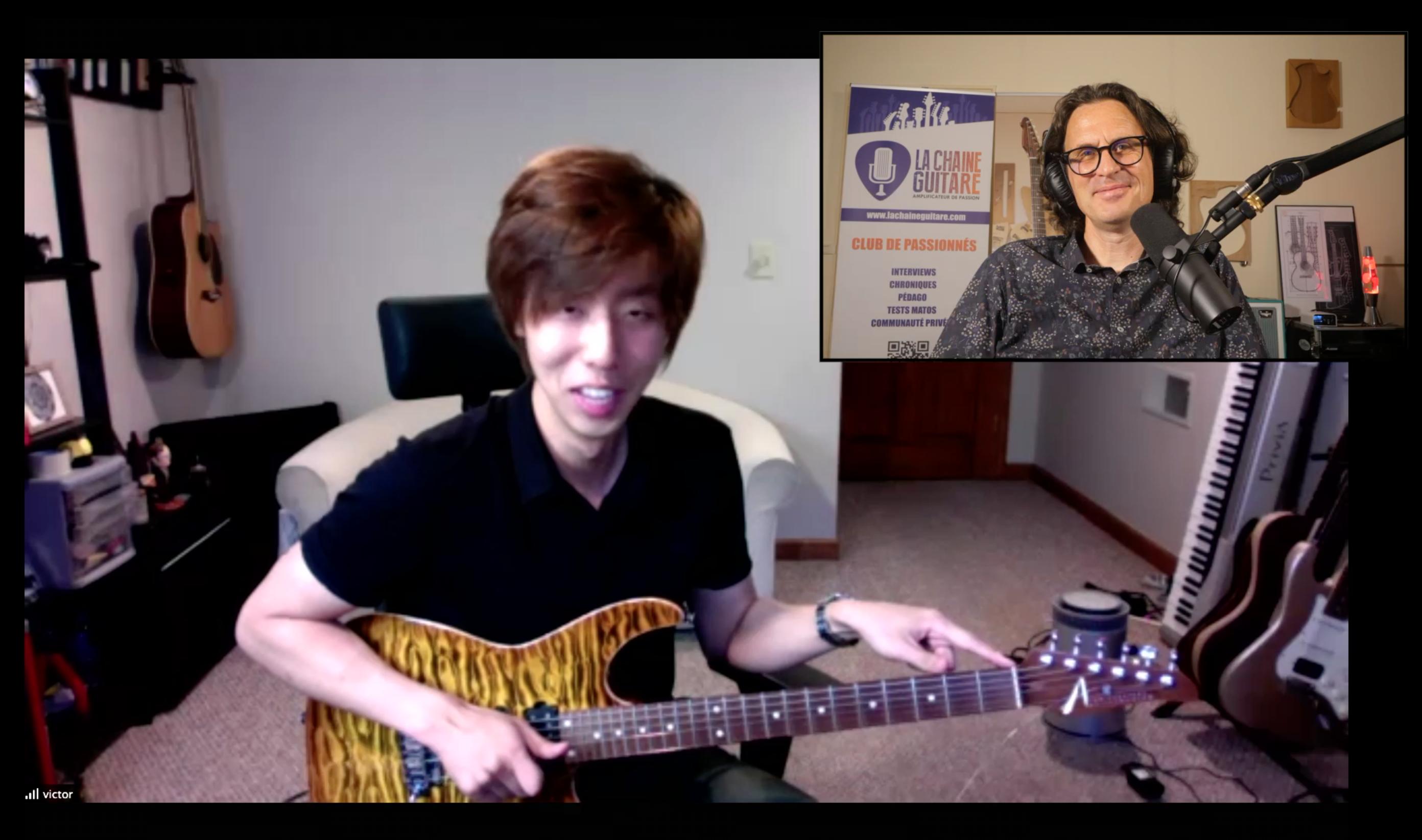 Victor Lee interview guitare à la main d'un musicien américano-coréen