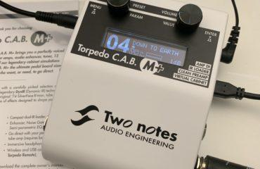 Torpedo CAB M+ Two Notes, test du couteau Suisse pour pédalier et ampli