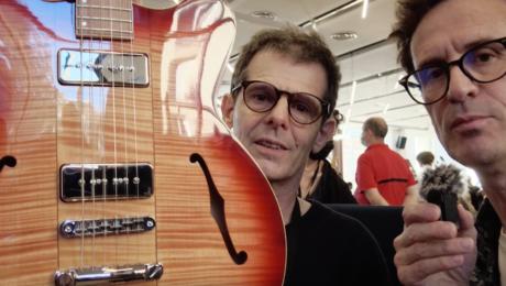 Luthier Hervé Bérardet, interview au salon du Paris Guitar Festival de Montrouge 2021