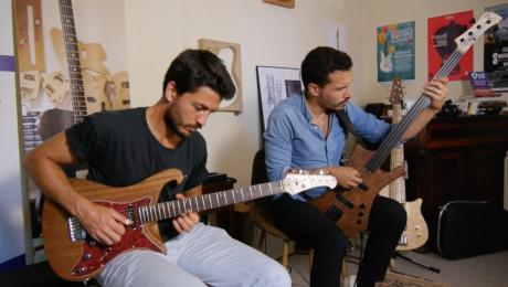 Jean-Baptiste Hardy et Benjamin Asnar, sessions avec les instruments de Rémi Castillo